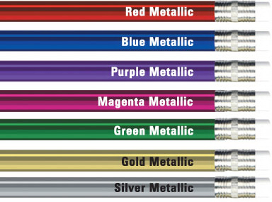 Imprinted Round Metallic Foil Pencil