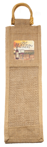 Imprinted Wine Jute Bag