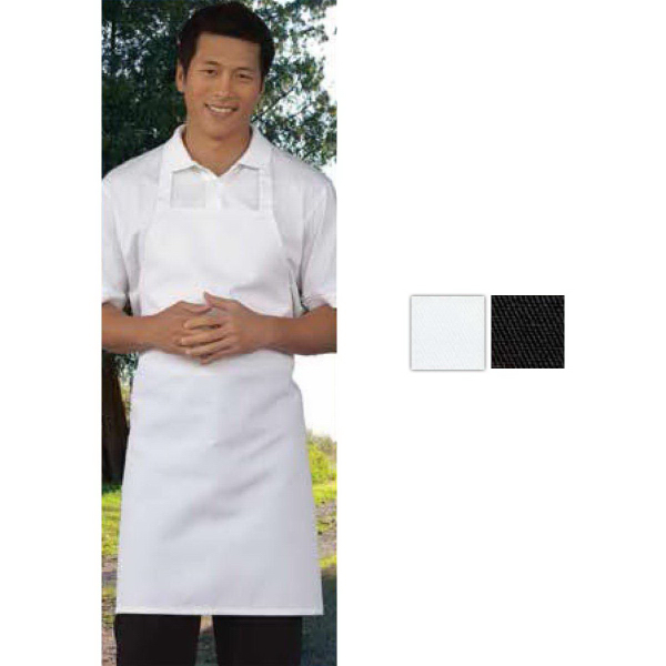 Promotional Mid-Length Black Bib Apron