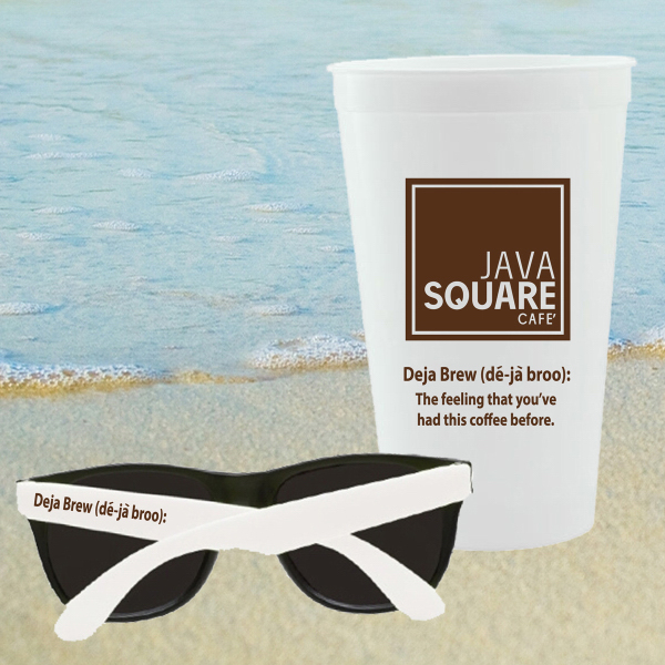 Promotional CUP SUNGLASSES KIT