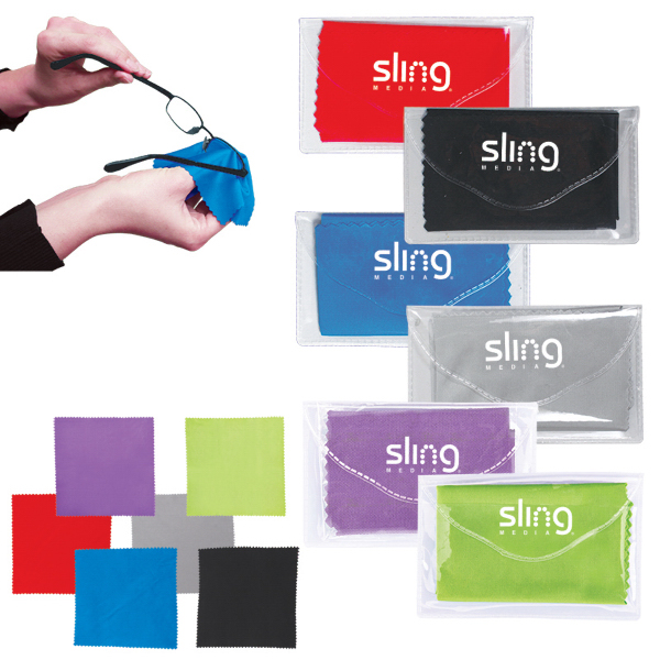 Promotional Microfiber Cleaner Cloth in Pouch