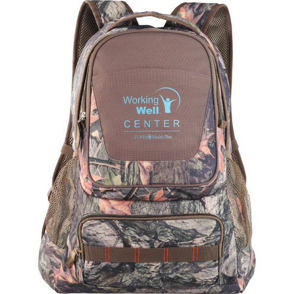 Imprinted Hunt Valley (TM) Camo Compu-Backpack