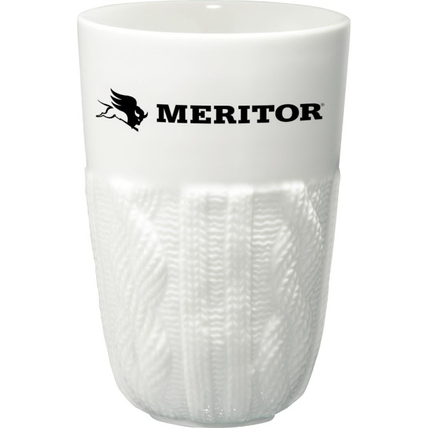 Custom Cable Knit Ceramic Tumbler 13 oz