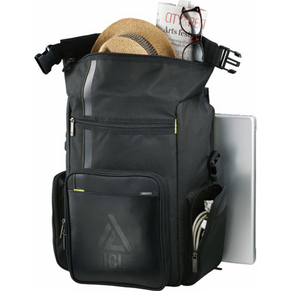 Printed Disrupt (TM) Recycled Deluxe Compu-Backpack
