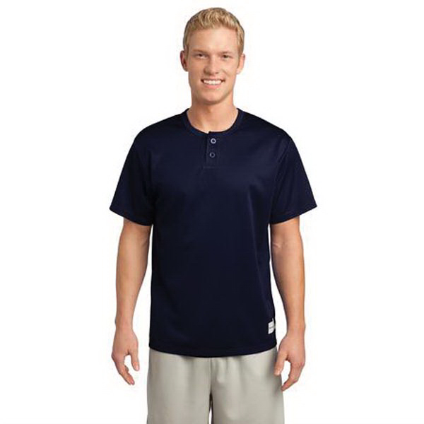 Printed Sport-Tek (R) PosiCharge (TM) Tough Mesh Henley