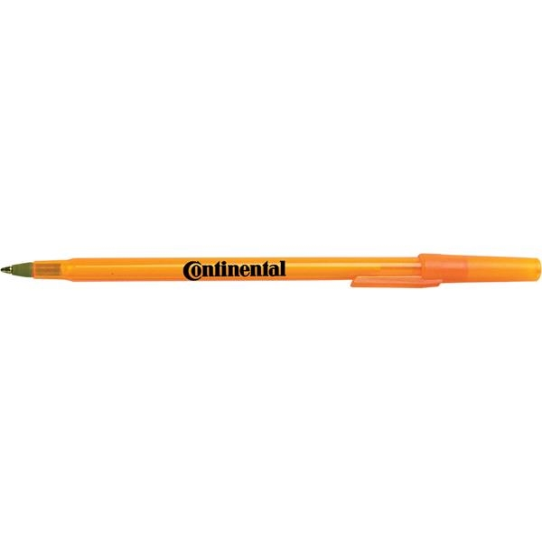 Printed Targetline Stick Pen with Gold Tip