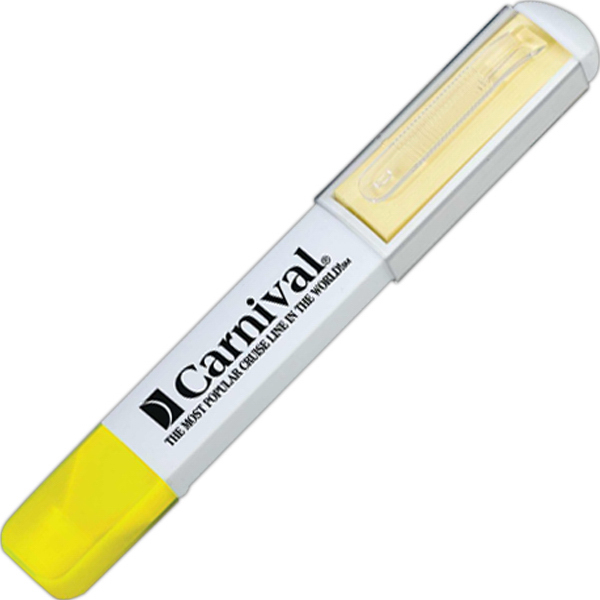 Promotional Highlighter with Sticky Note Pad