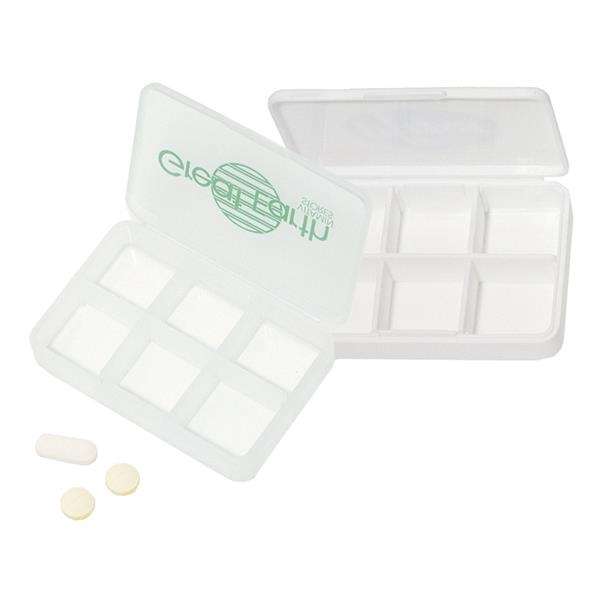 Imprinted Targetline 6 Compartment Pill Box