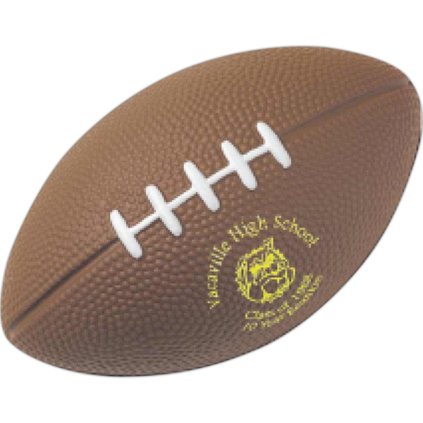 Printed Large Football Stress Reliever