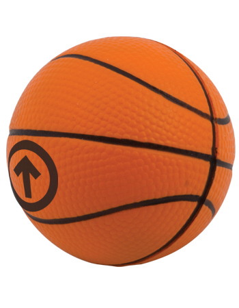 Imprinted Targetline Basketball Stress Reliever