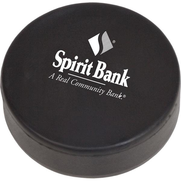 Printed Targetline Hockey Puck Stress Reliever