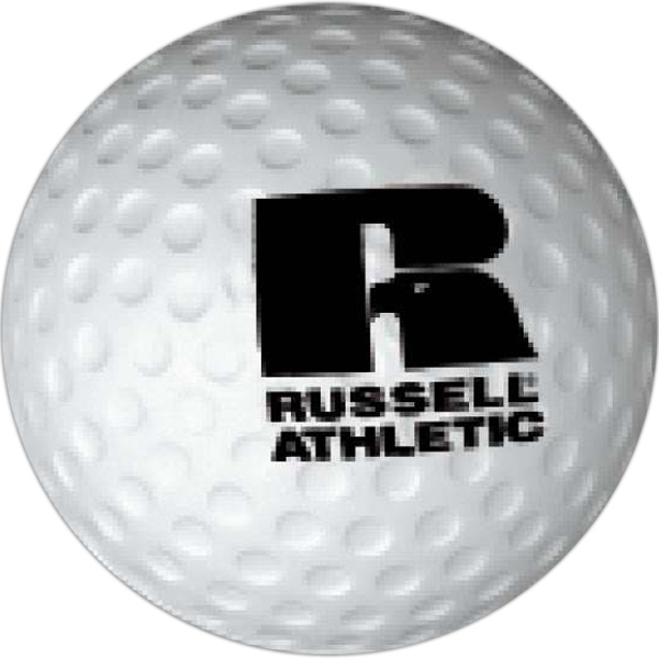 Imprinted Targetline Golf Ball Stress Reliever