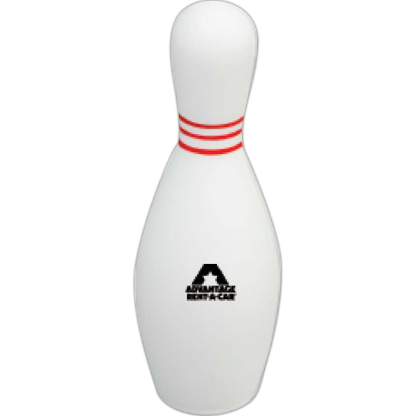 Promotional Targetline Bowling Pin Stress Reliever