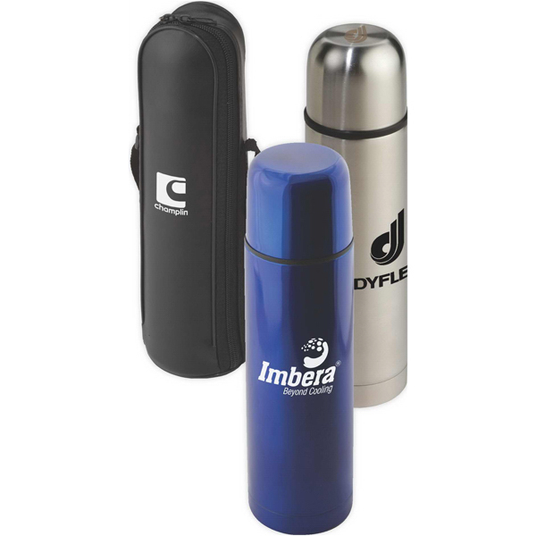 Promotional Targetline 16.9 Stainless Steel Thermo Bottle with Case