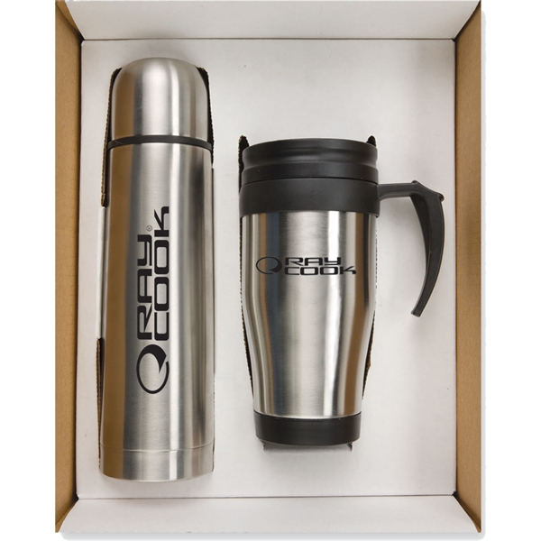 Customized Targetline Thermo Bottle/Mug Gift Set