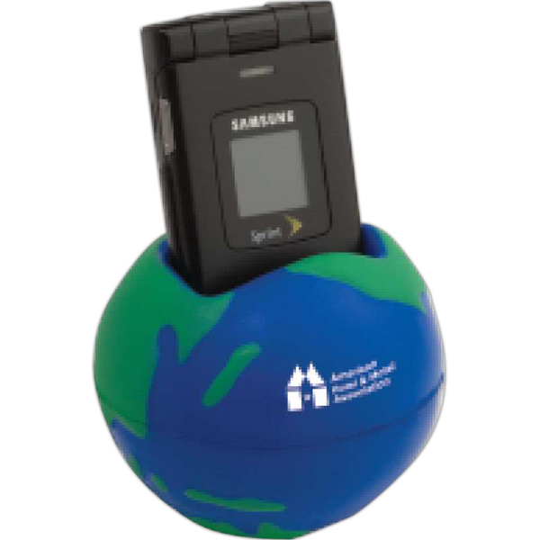 Personalized Globe Cell Phone Holder