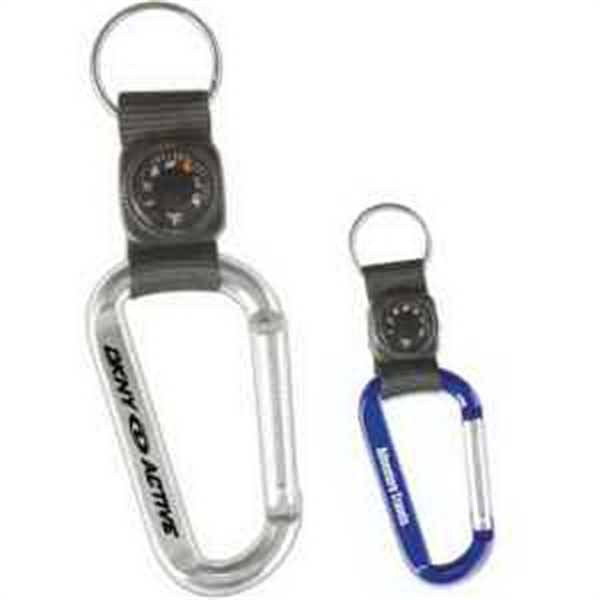 Custom Carabiner With Thermometer Key Tag