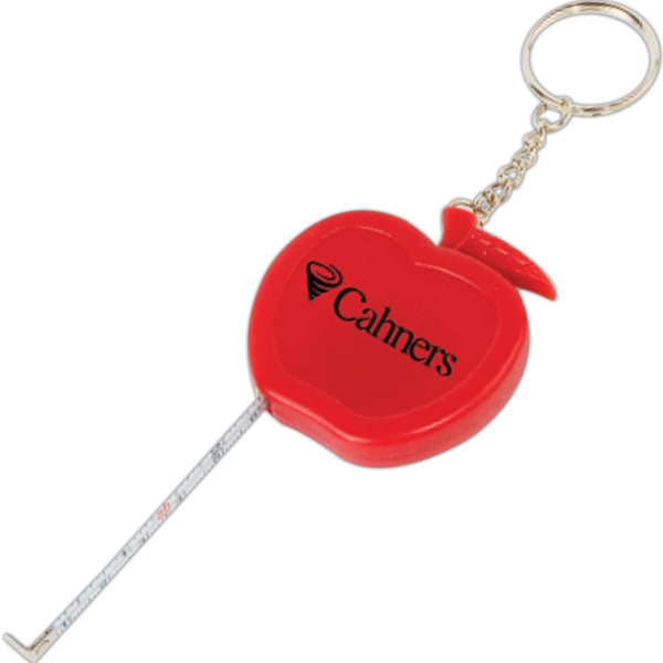 Personalized Apple Tape Measure Key Tag