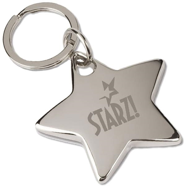 Personalized Targetline Star Key Tag
