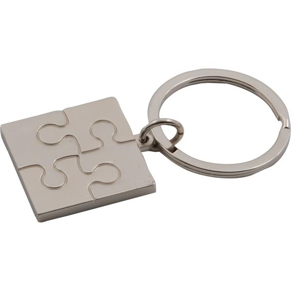 Imprinted Targetline Puzzle Metal Key Tag