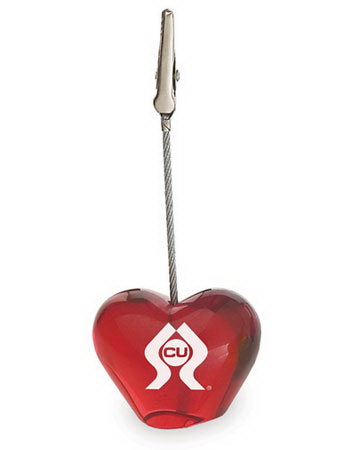 Imprinted Targetline Heart Clip Memo Holder