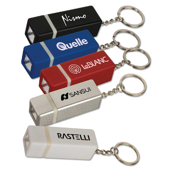 Promotional Targetline Square Key Tag Light