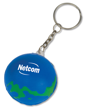 Custom Mini Globe Stress Reliever Key Tag