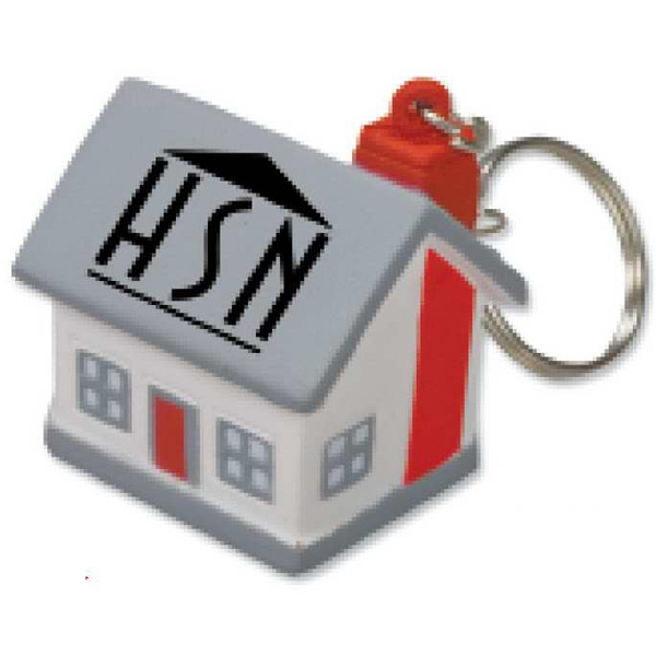 Customized Mini Cottage/House Stress Reliever Key Tag