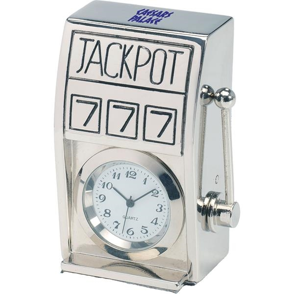 Personalized Silver Die Cast Slot Machine Clock