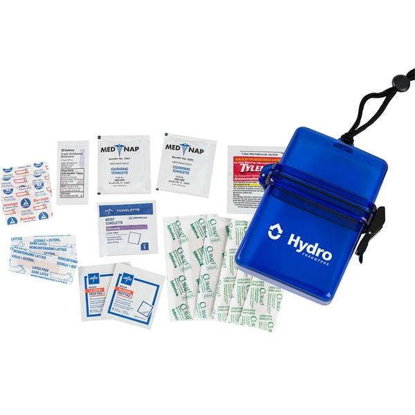 Custom Deluxe First Aid Kit in a Plastic Container