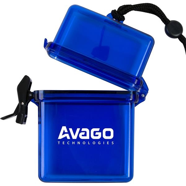 Promotional Plastic Container on a Rope or Lanyard