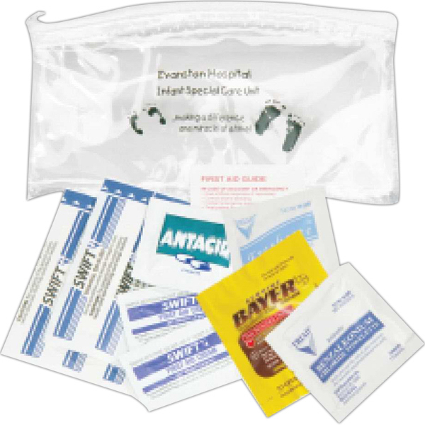 Printed Deluxe First Aid Kit in a Promotional Bag