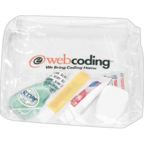 Customized Targetline Deluxe Dental Kit in a Promotional Bag
