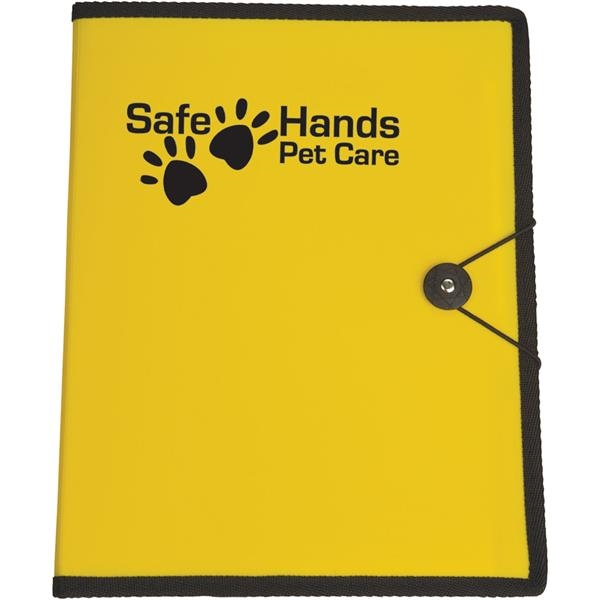 Customized Targetline Letter Size Portfolio with Closure Strap and Pen