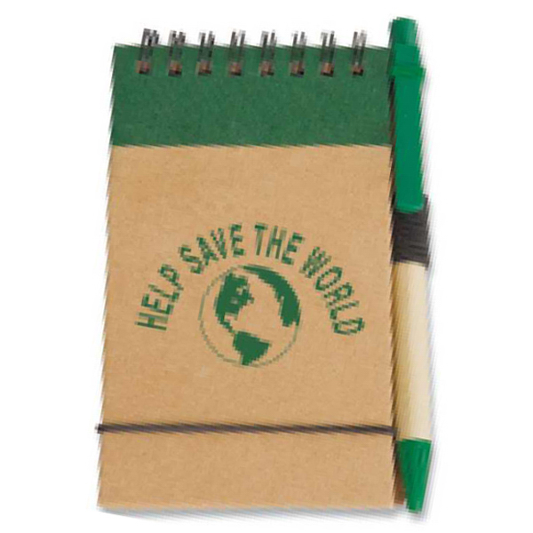 Printed Targetline Eco Pocket Jotter with Eco Paper Barrel Pen