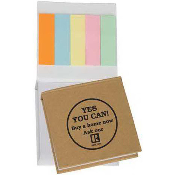 Printed Small Note Pad with Sticky Flags