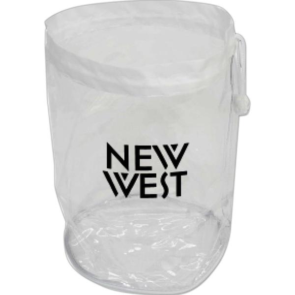 Personalized Targetline Large Clear Drawstring Bag