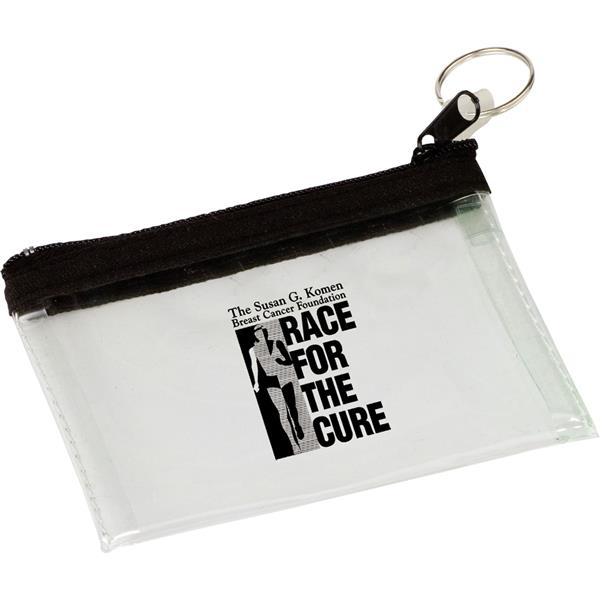 Customized Target Line Key Tag PVC Pouch
