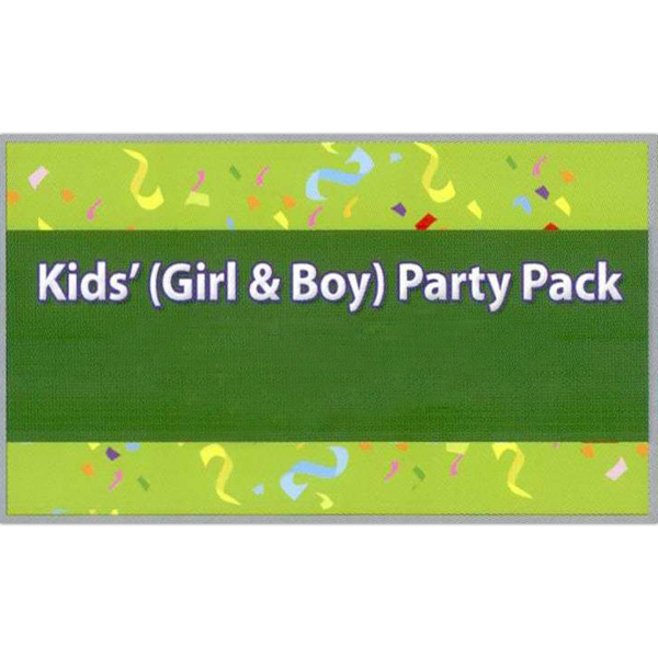 Customized Boy's and Girls Party Pack Temporary Tattoos