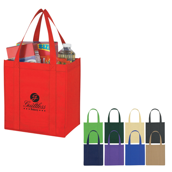 Printed Custom Non-Woven Avenue Shopper Tote Bag
