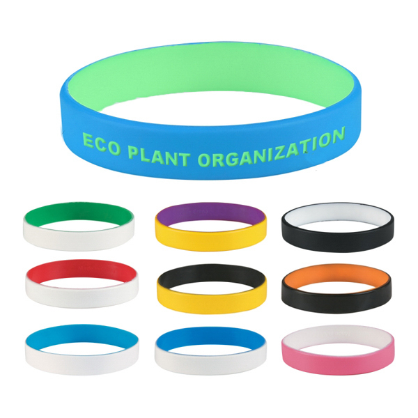 Promotional Custom Colored Letter Silicone Bracelet