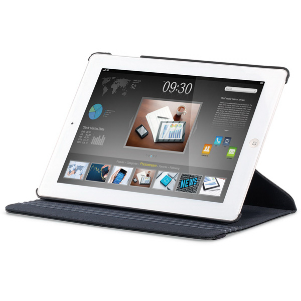 Printed Pivot Leather iPad (R) Swivel Stand