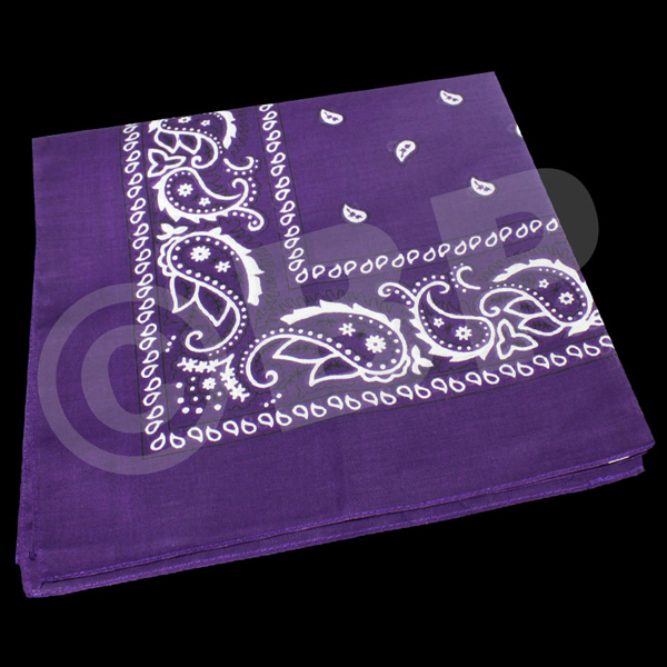 "Imprinted Cotton Bandana 22"" x 22"""