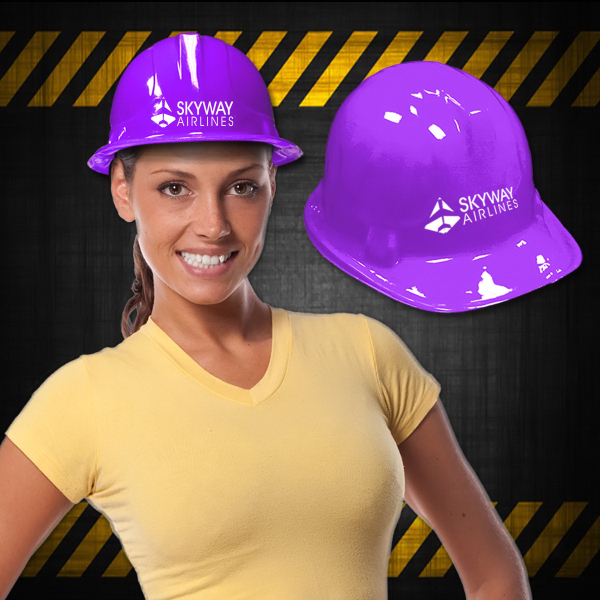Custom Purple Plastic Construction Hat