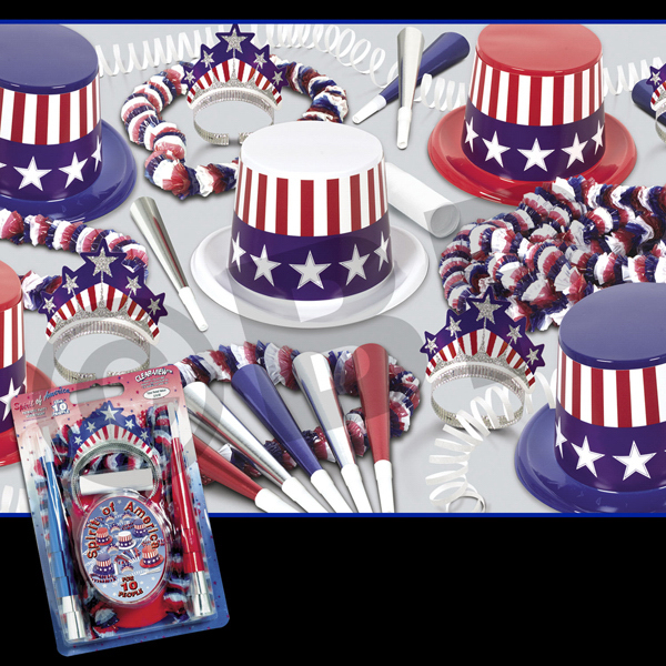 Custom Spirit of America Party Kit for 25