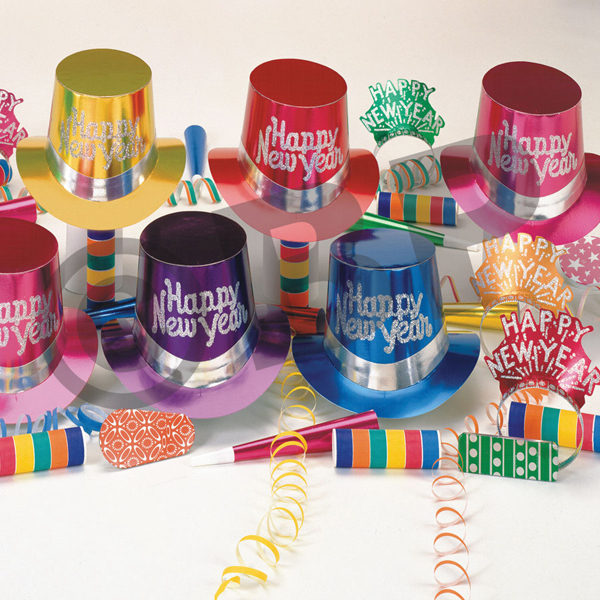 Printed New Year's Metallic Party Kit for 10