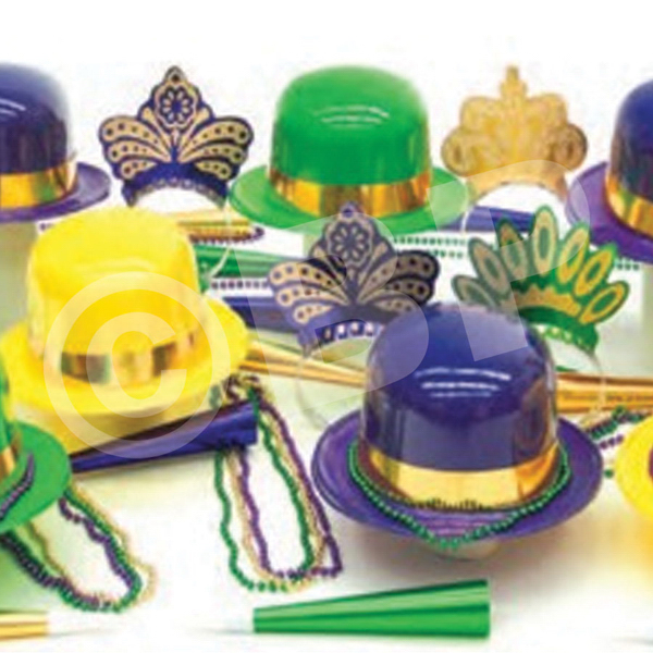 Imprinted Mardi Gras Party Kit for 25