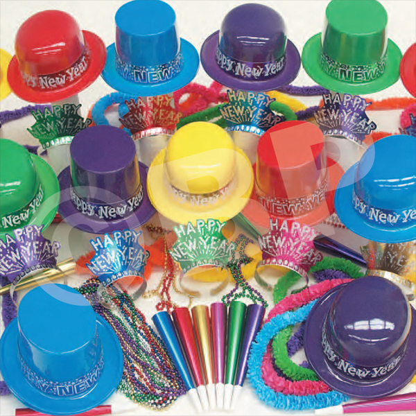 Customized Showboat New Year's Eve Party Kit for 100