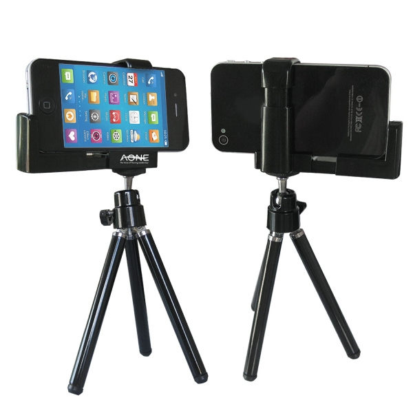 Promotional Mini Adjustable Tripod+camera Holder for Smartphones