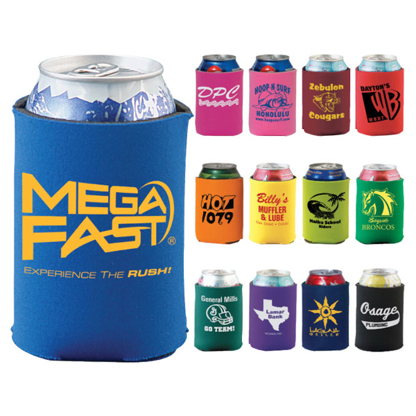 Promotional Mega Collapsible Coolie, Solid Colors on Mega Special